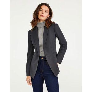 Ann Taylor Petite Charcoal Gray Suit Jacket